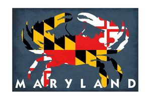 Maryland - Crab Flag by Lantern Press