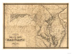 Maryland - Panoramic Map by Lantern Press