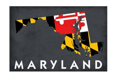 Maryland - State Outline Flag