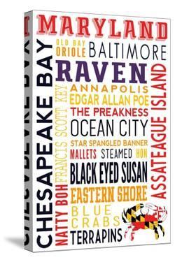 Maryland - Typography by Lantern Press