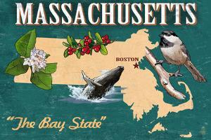 Massachusetts - State Icons by Lantern Press