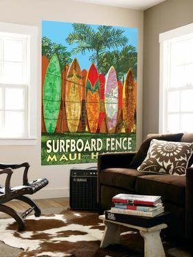 Maui, Hawaii - Surfboard Fence by Lantern Press