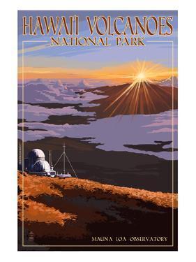 Mauna Loa Observatory at Sunrise, Hawaii Volcanoes National Park by Lantern Press