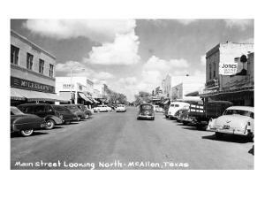 McAllen, Texas - Northern View up Main Street by Lantern Press
