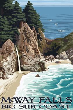 McWay Falls - Big Sur Coast, California by Lantern Press