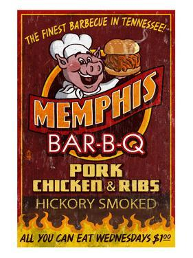 Memphis, Tennessee - Barbecue by Lantern Press