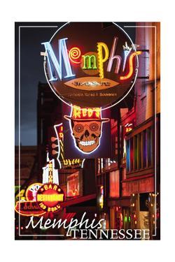 Memphis, Tennessee - Beale Street by Lantern Press