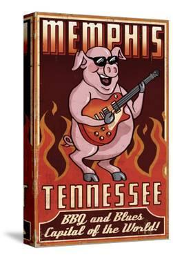 Memphis, Tennessee - Guitar Pig by Lantern Press