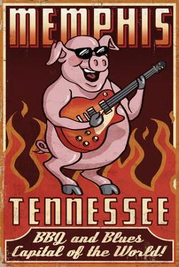 Memphis, Tennessee - Guitar Pig by Lantern Press