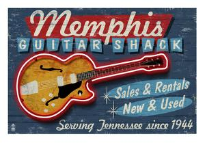 Memphis, Tennessee - Guitar Shack by Lantern Press