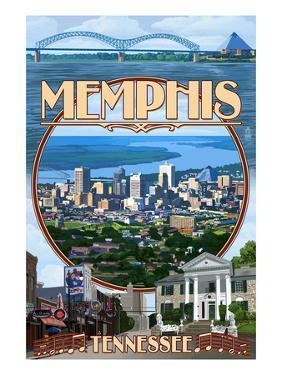 Memphis, Tennessee - Memphis Montage by Lantern Press