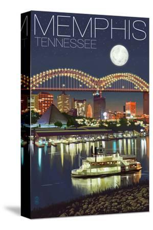 Memphis, Tennessee - Memphis Skyline at Night by Lantern Press