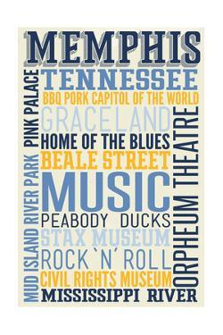 Memphis, Tennessee - Typography by Lantern Press
