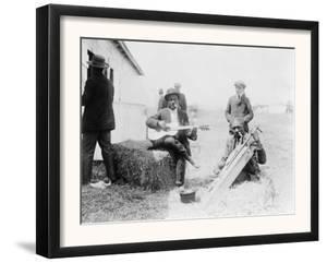 Men Playing Kazoos and Guitar Photograph by Lantern Press