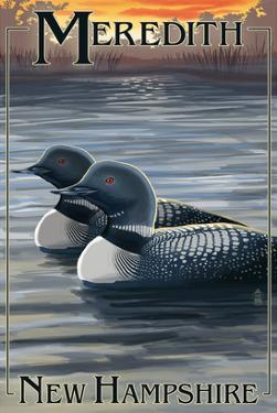Meredith, New Hampshire - Loons by Lantern Press