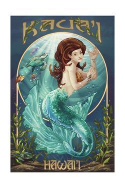 Mermaid - Kaua'i, Hawai'i by Lantern Press