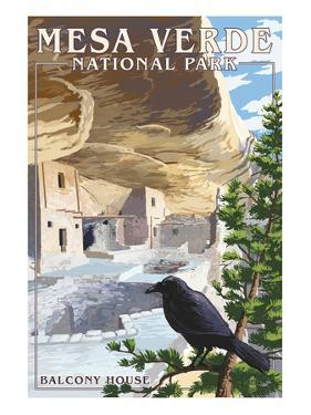 Mesa Verde National Park, Colorado - Balcony House by Lantern Press