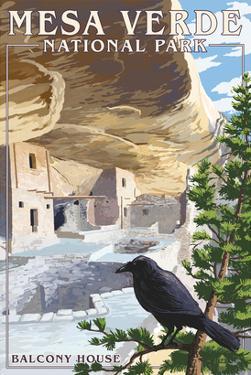 Mesa Verde National Park, Colorado - Balcony House by Lantern Press
