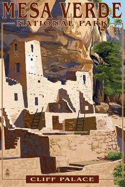 Mesa Verde National Park, Colorado - Cliff Palace by Lantern Press