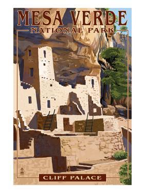 Mesa Verde National Park, Colorado - Cliff Palace by Lantern Press