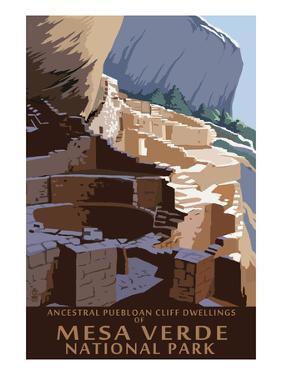 Mesa Verde National Park, Colorado - Long House by Lantern Press