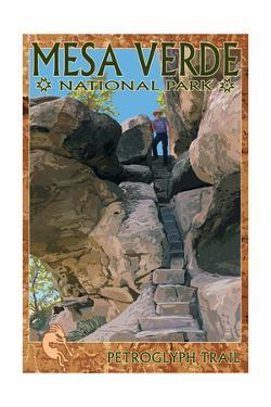Mesa Verde National Park, Colorado - Petroglyph Trail by Lantern Press