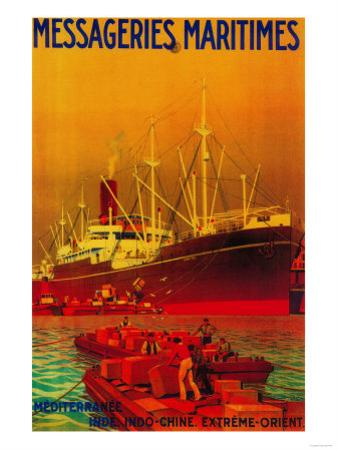 Messageries Maritimes Vintage Poster - Europe by Lantern Press