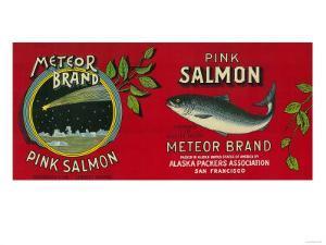 Meteor Salmon Can Label - San Francisco, CA by Lantern Press