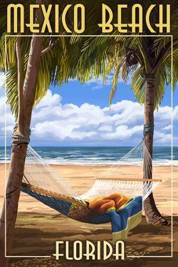 Mexico Beach, Florida - Hammock and Palms by Lantern Press