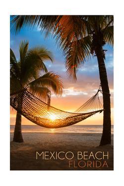 Mexico Beach, Florida - Hammock and Sunset by Lantern Press