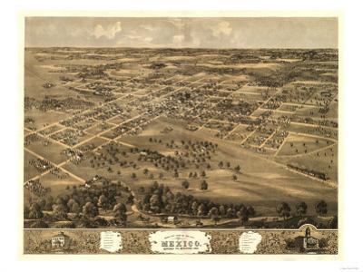 Mexico, Missouri - Panoramic Map by Lantern Press