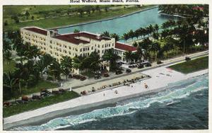 Miami Beach, Florida - Hotel Wofford Exterior View by Lantern Press
