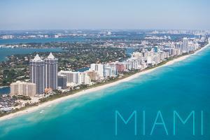 Miami, Florida - Aerial View by Lantern Press