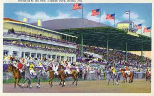 Miami, Florida - Hialeah Park; Parading to the Post Scene by Lantern Press