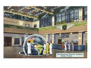 Miami, Florida - Pan-American Airways Terminal Interior View by Lantern Press