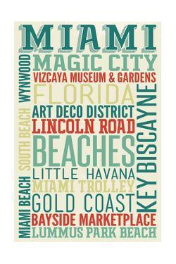 Miami, Florida - Typography by Lantern Press