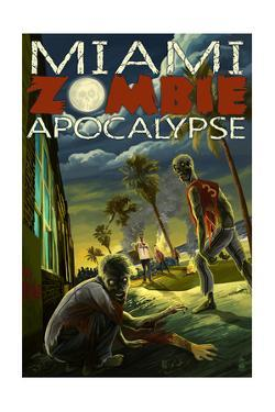 Miami, Florida - Zombie Apocalypse by Lantern Press