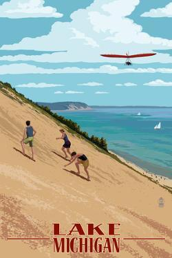 Michigan - Dunes by Lantern Press