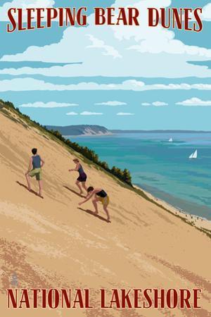Michigan - Sleeping Bear Dunes by Lantern Press
