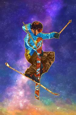 Milky Way Skier by Lantern Press