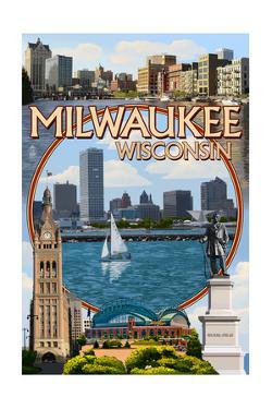 Milwaukee, Wisconsin - Montage Scenes by Lantern Press