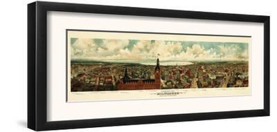 Milwaukee, Wisconsin - Panoramic Map by Lantern Press