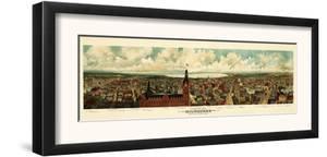 Milwaukee, Wisconsin - Panoramic Map by Lantern Press