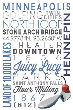 Minneapolis, Minnesota - Typography by Lantern Press