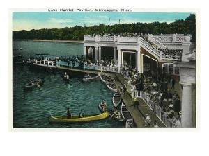 Minneapolis, Minnesota - View of Lake Harriet Pavilion by Lantern Press