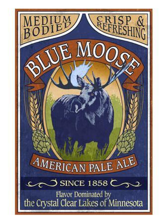 Minnesota - Blue Moose Pale Ale by Lantern Press