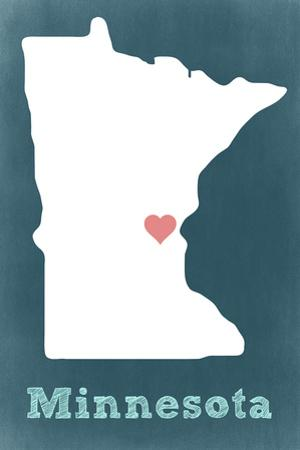 Minnesota - Chalkboard by Lantern Press