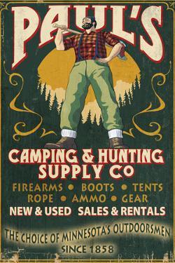 Minnesota - Paul Bunyan Camping Supply by Lantern Press