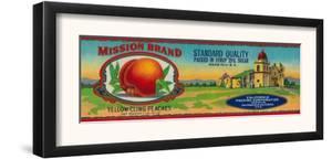 Mission Peach Label - San Francisco, CA by Lantern Press