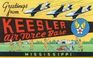 Mississippi - Keesler Air Force Base, Large Letter Scenes by Lantern Press